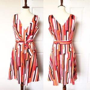 Calvin Klein A Line Stripped Dress